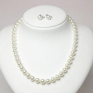 パールネックレスセットフォーマル無調色アコヤ真珠8.0〜8.5mm(w80-144)ブライダルウエディング結婚式真珠婚式お葬式法事卒業式入学式パーティーご成人お祝い送料無料