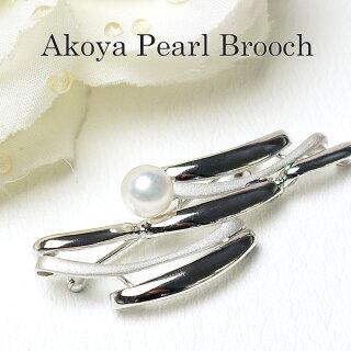パールブローチ(6530)コサージュシルバーアコヤ真珠7.5mm入学式卒業式フォーマル式典セレモニー結婚式ブライダルパーティー母の日送料無料あす楽