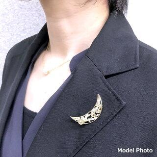 パールブローチ(6555)アコヤ真珠6.5mmコサージュ月ラインストーン入学式卒業式フォーマル結婚式パーティー母の日送料無料あす楽