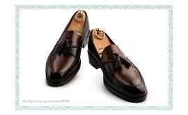 2トーンタッセルローファーUチップ☆最高級イタリア産の皮革【ビジネスシューズ/紳士靴/本革靴/皮靴/本革底/ローファー/ボートシューズ/メンズ/Men's/ハンドメイド】【商品名:lstylehommeNo.5414ブラウンミックス】