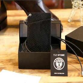 イタリアの革ネックレス財布 定期入れ パスケース カード財布 簡単な財布TZ1D226 ☆ ベルトの専門店TZSTONE