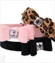 ★Susan Lanci★スーザンランシーBig Bow Collar犬用スワロフスキ付き首輪ブラック