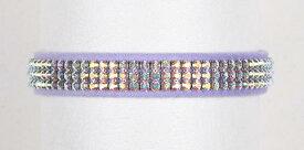 ★Susan Lanci★スーザンランシーAurora Borealis Collar_French Lavender犬用スワロフスキ付き首輪