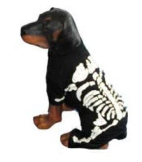 ★供Pampet★Skeleton Costume狗使用的骨架服裝