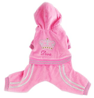 ★Velour jumpsuit for the Pooch Outfitters/ Pooh thiaUto fitter ★ Diva Jumper dog
