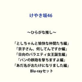 〜ひらがな推し〜「としちゃんと愉快な仲間たち編」「京子さん、何してんですか?編」「日向のバラエティ女王誕生編」「パンの鉄砲を撃ちますよ編」「あだ名がおたけになりました編」 [Blu-rayセット]