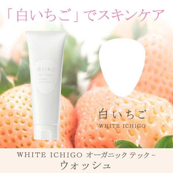 白いちご WHITE ICHIGO オーガニック テック-ウォッシュ 120g【スキンケア 洗顔料 美容成分 無添加 さっぱり しっとり】白いちごにオーガニックと機能成分を組み合わせた日本製オーガニックコスメ