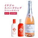 【イチゴのスパークリングワインセット】スパークリングワイン ミガキイチゴ・ムスー いちご100% 国産 720ml 1本(化…