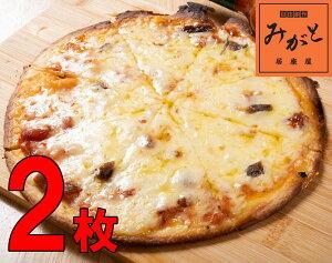 わんちかピザ 2枚セット 約直径20センチ 薄い 一人前 ミニ トマトソース おつまみ 青森 チーズ アンチョビ 晩酌 居酒屋 ビール 酒 一人前 小腹 口さみしい スナック菓子 おやつ 家族団らん 冷