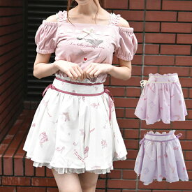 Romantic Shoes柄スカパン カラー3色 [LIZ LISA] リズリサ 183-5029