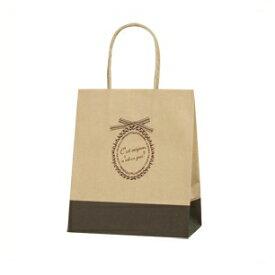 バレエ発表会に最適★ギフト用手提げ袋(紙袋)シックなカラーがオシャレ♪茶色×黒 SMサイズ
