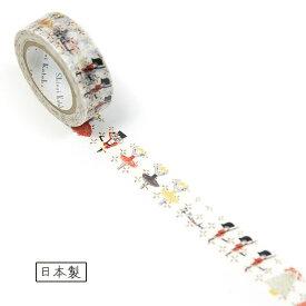 【Shinzi Katoh デザイン】手でちぎれる♪マスキングテープ★くるみ割り人形柄★