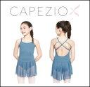 バレエ レオタード 子供【カペジオ】子供用スカート付きキャミソールレオタード(2色展開)