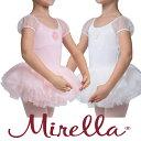 子供 レオタード【MIRELLA】ふんわりパフスリーブにチュールスカートがキュート!2色展開