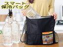【送料無料】スマートなサイズで持ち運び便利!保冷バッグ ブラック