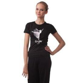 【グリシコ】バレエ Tシャツ ロマンチックチュチュ柄 半袖おとな可愛いバレエダンサーのプリント入り♪(3色)