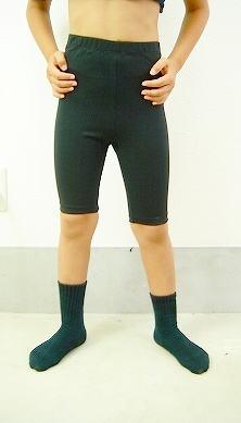 男の子用 バレエ 5分丈スパッツ 100cm〜170cm 【男の子バレエセット対象】 −ブラック 【バレエ用品】*