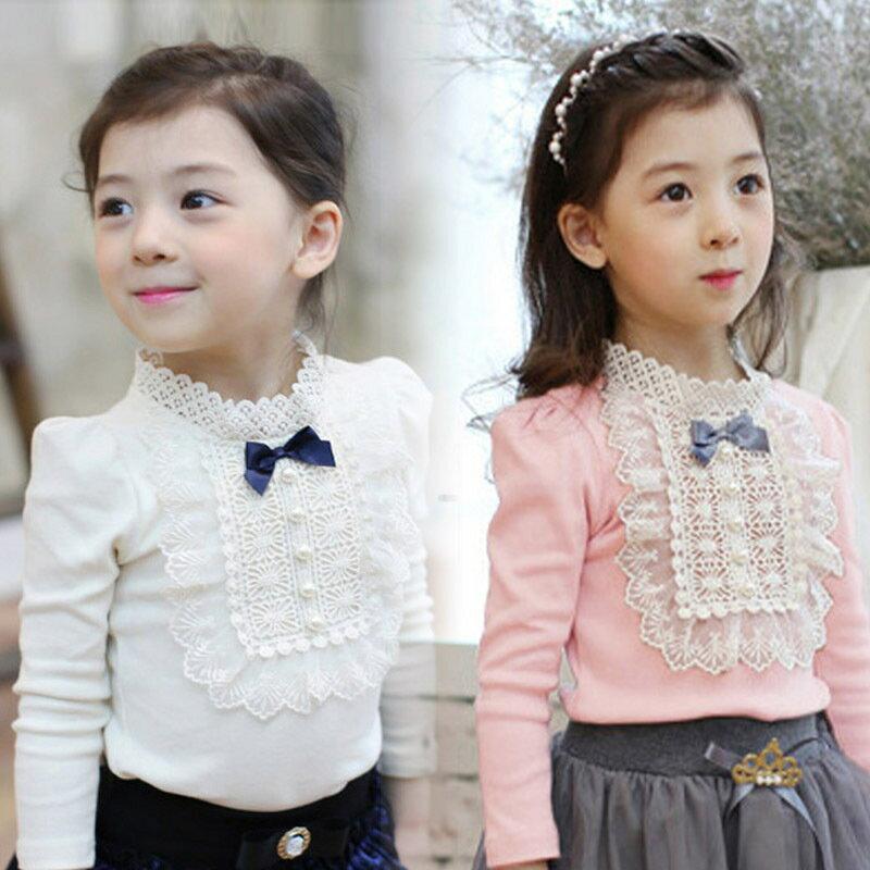 子供服 韓国ファッション  女の子 リボン 長袖  Tシャツ  トップス ブラウス 可愛い ベビー服 春秋冬 通学 通園 キッズ服