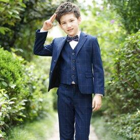 6f391217976ea 「レビュー投稿でプレゼント」子供服 男の子 スーツ キッズスーツ 4点セット コート