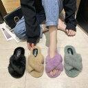 サンダル スリッパ レディース 靴 レディース スリッパ かわいい サンダル ファーサンダル ファースリッパ 無地 可愛…