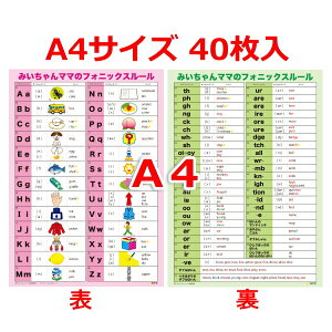 A4フォニックス一覧表(発音記号入り)下敷き40枚入
