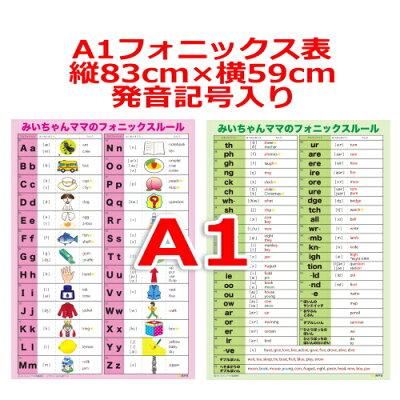 A1フォニックスルール一覧表発音記号入り