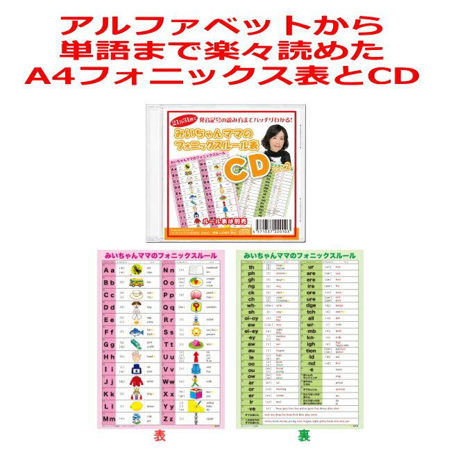 【送料無料】楽天ランキング4部門1位!フォニックスルール表(A4サイズ)とCDのお得なセット。下敷きのようなフォニックス表は発音記号入り。おすすめ人気売れ筋のフォニックス一覧表。早見表。フォニックス発音表。アルファベット表。子供、小学生、中学生用