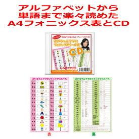 フォニックスルール表(A4サイズ)とCDのお得なセット。フォニックス表は発音記号入り。子供、小学生、中学生におすすめ!
