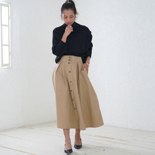 【送料無料/メール便】トレンチスカートスカートロングスカートミモレ丈ロングレディース