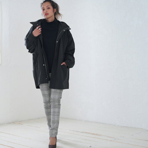【送料無料】リバーシブルボアコート中綿コートキルティングコートノーカラーコートコート冬アウターレディース