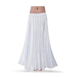 広がる スカート ロング 軽やか サテン サーキュラースカート ロングスカート ペチコート ペチスカート パニエ ダンス 衣装 ヒップホップ ホワイト 白 ミカドレスcr134-mcv