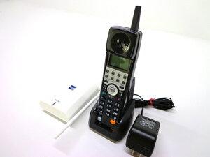 【中古】ビジネスフォン/ビジネスホンサクサコードレスセット・アンテナ付黒BT605/WS605