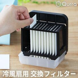 冷風機 冷風扇 交換フィルター 12枚セット 卓上扇風機 静音 USB 扇風機 冷風 車 小型 充電式 卓上クーラー 車内 オフィス おしゃれ ミニ ポータブル Qurra クルラ 送料無料