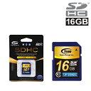 TEAM チーム SDカード 16GB class10 最大20MB/秒 SDHC TG016G0SD28K 【10年保証】 メモリーカード SDHCカード SD カード SDメモリーカード【送料無料】