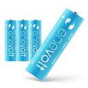 【送料無料/ケース付】 充電池 2100mAh 単3 4本 セット エネボルト 電池