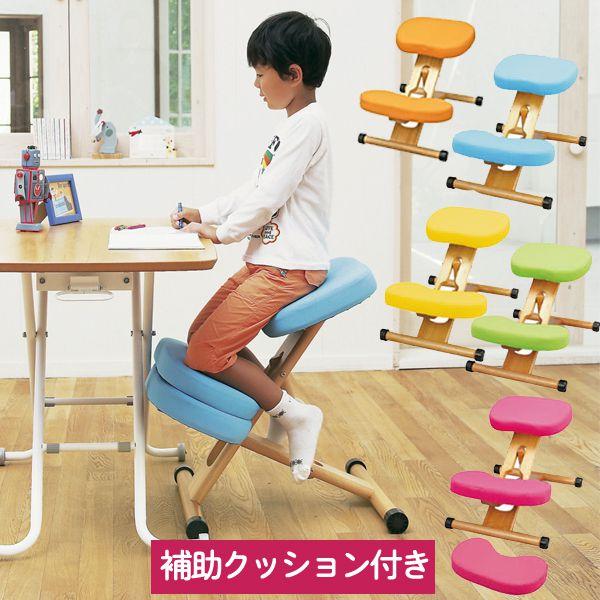 姿勢が良くなる デスク チェア 子供から大人まで 補助クッション付きバランスチェアタイプ CH-889CK 子供椅子【特選】 クーポン除外品t002-m045-prc-c89k【QST-160】