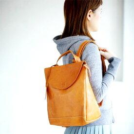 リュック A4サイズ対応 本革 牛革 ブラウン(キャメル系) リュックサック デイパック カバン かばん 鞄 バッグ バック 女性 レディース かわいい おしゃれ 人気 おすすめ 送料無料 PR10 母の日 さらに特典付き 【QSM-100】【2D】