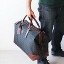 ボストンバッグ チェック柄 ダレス型 開口 大口 メンズ 45cmサイズ2WAY 豊岡の鞄 日本製 旅行バッグ ボストンバッグ …