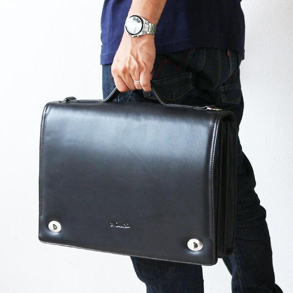 ブリーフケース 革 牛革 本革 ダレスバッグ 被せタイプ ダレスバッグ カバン バック メンズビジネスバッグ 2WAY A4ファイル対応父の日 おすすめ さらに特典付き 【アウトレット】[G2]【QSM-100】