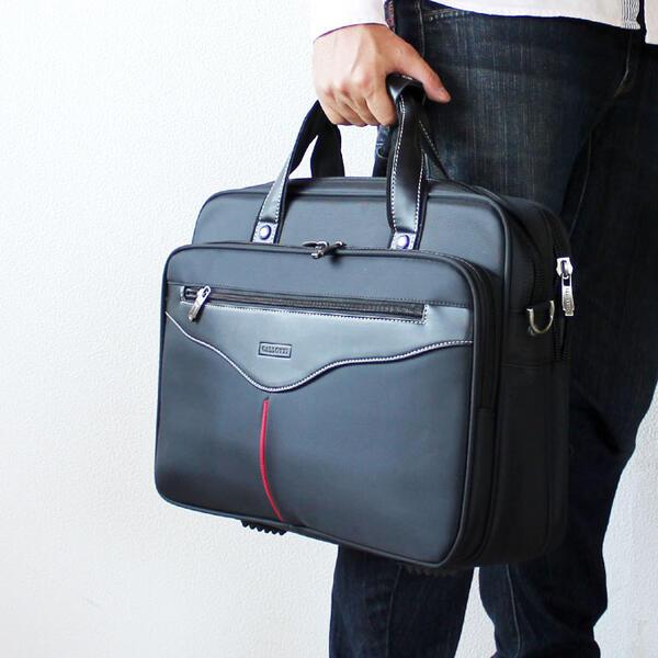 メンズビジネスバッグ 幅40cm 2WAY ナイロン PC対応 A4ファイル対応 キャリーバー通し 自立 ビジネスバック ブリーフケース 型がしっかりしたメンズビジネスバッグ 鞄 カバン かばん【あす楽対応】新卒 新社会人 就職活動 就活 面接 父の日 【アウトレット】[G2]【QST-100】