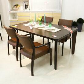 軽い椅子でらくらく ダイニングセット5点 肘付チェア ダイニングテーブル 5点セット オーク材 140幅 天板  送料無料 モダン シンプルmat-batorar5 背張りレザー 食卓セット GOK [G2]【QOG-100】 m081-