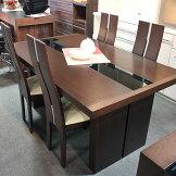 ダイニングセット5点ブラックガラスタイプダイニングテーブル150cm送料無料モダンGOK[G2]
