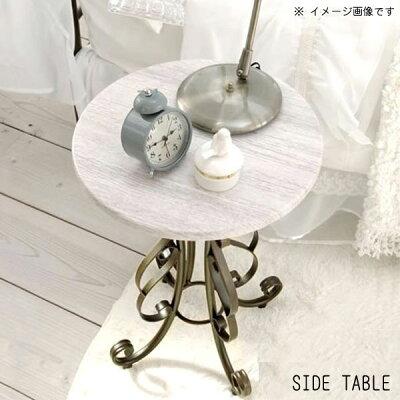 サイドテーブルのみナイトテーブル幅40cm高さ57cmホワイト木天板ゴールド猫脚ラウンドテーブルオーバル型円いベッドサイドテーブルアンティーク便利おしゃれかわいい高級感上品きれい送料無料【sm-160】【QSM-140】