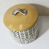 かわいい!犬の小物入れ大きめふた付き陶器キャニスターフードポット【即納】[G2]【アウトレット/out】【ne】