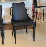 椅子モダン肘付きダイニングチェア送料無料【さらに表示価格より2%off】ブラックレザーデザイナーズGMK-dc[G2]【ne】