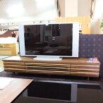 波型曲線の美しいテレビ台ローボード幅180cmウォールナットオーク材GYHCdashain180波ウェーブ格子テレビ台テレビボードローボード