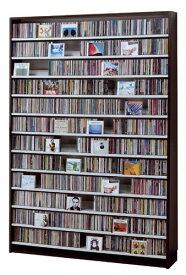 最大CD収納枚数1668枚!最大DVD収納枚数720枚!ディスプレイしながら大量収納! 大容量 CDラック  幅139cm  t005-m135- cs1668 【メーカー直送】 【QSM-260】
