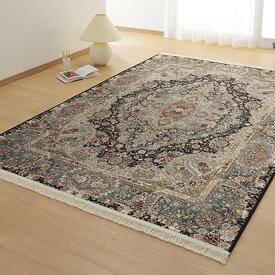 玄関マット 高品質イラン製ゴブラン ラグ カーペット クラシック デザイン ラグ 66×120 カーペット 絨毯 ベルギー製【QSM-100】