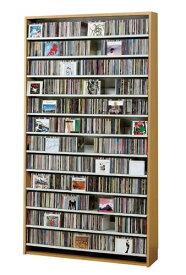 最大CD収納枚数1284枚!最大DVD収納枚数560枚!ディスプレイしながら大量収納! 大容量 CDラック  幅109cm  t005-m135- cs1284  【メーカー直送】 【QSM-260】