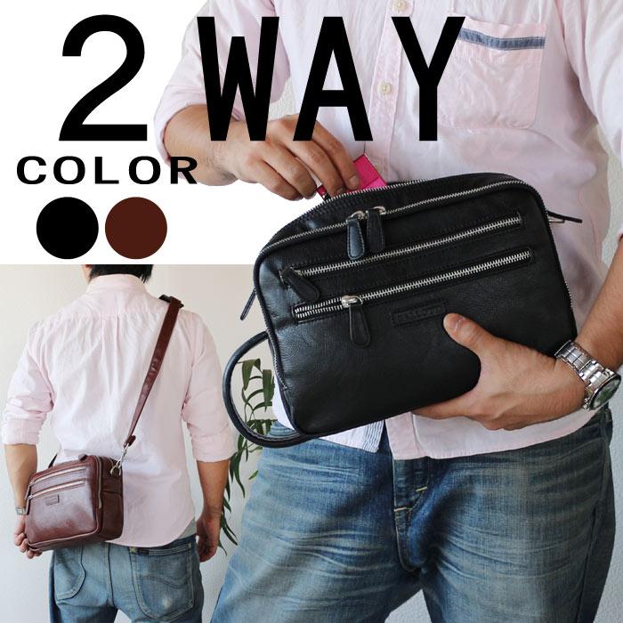 セカンドバッグ ハンドバッグ メンズ 鞄 カバンセカンドバック 合皮 取っ手付き  PR2 父の日 買い替え プレゼントに 【アウトレット】